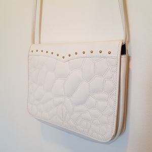 Charles Jourdan Paris White Leather Bag
